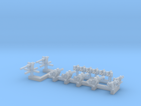 1/300 Mixed Gun Pack in Smooth Fine Detail Plastic