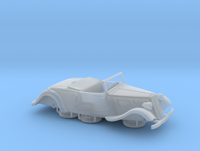 1:76 Citroen Traction Roadster 1934 in Smooth Fine Detail Plastic