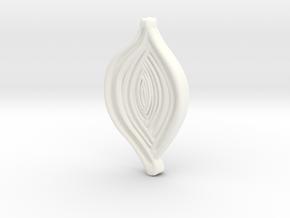 Spiroloculina depressa Model 4cm in White Processed Versatile Plastic