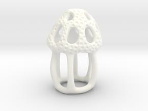 Dictyocysta lepida Model 4cm  in White Processed Versatile Plastic