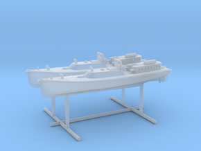 1/400 IJN 17m Admiral (pinnace) Boat Set in Smooth Fine Detail Plastic