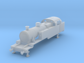 b-100-lms-fowler-2-6-2t-loco-late in Smooth Fine Detail Plastic