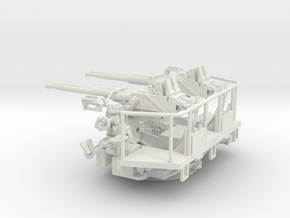 1/48 40mm Bofors Quad Mount USN WWII ships in White Natural Versatile Plastic