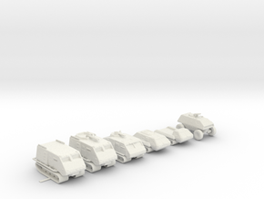 Landrams 160 scale in White Natural Versatile Plastic