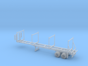 Timber Trailer With Wheels Assembled 1-87 HO Scale in Smooth Fine Detail Plastic