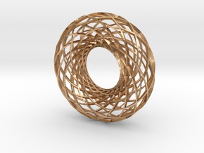 Twisted strip torus,large in Natural Bronze