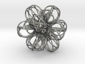 Gen.  Relativity10D Black Crystal  Radiation in Natural Silver