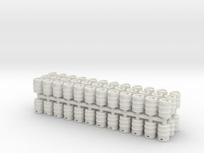 Beer Barrel. 1:72 Scale  in White Natural Versatile Plastic