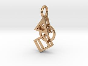 Bauhaus Pendant in Polished Bronze (Interlocking Parts)