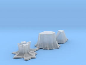 O Scale stumps 2 in Smooth Fine Detail Plastic