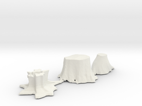 S Scale stumps 2 in White Natural Versatile Plastic