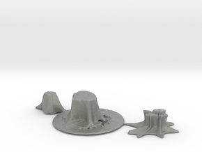 HO Scale stumps 2 in Gray PA12