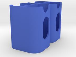 Canon LPE6 Quad Battery Holder V1 in Blue Processed Versatile Plastic