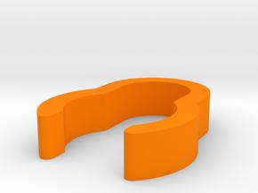 C-Stand Cable Clamp V1 in Orange Processed Versatile Plastic