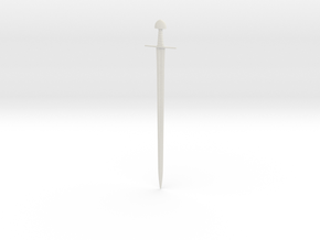 1/3 Scale ULFBERHT Sword  in White Natural Versatile Plastic