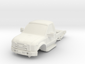 1/87 F450 Short Chassis in White Natural Versatile Plastic