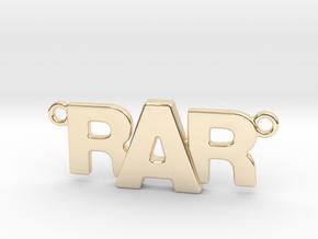 Monogram Pendant RRA in 14K Yellow Gold
