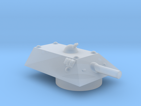 Tiger Heavy Grav Tank Turret 15mm in Smoothest Fine Detail Plastic