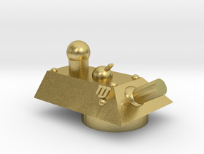 Cheetah Heavy Grav Self Propelled Gun Turret 15mm in Natural Brass