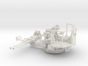 1/35 40mm Bofors Twin Mount USN WWII ships in White Natural Versatile Plastic