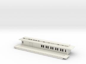 CFo1 modell 02 - Swedish passenger wagon in White Natural Versatile Plastic