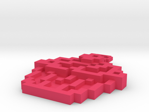 Pixel Art  - Cupcake in Pink Processed Versatile Plastic