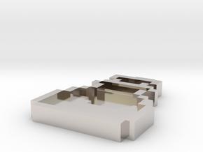 Pixel Art  - Potion in Rhodium Plated Brass