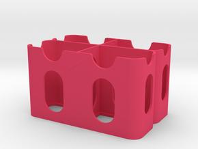 Quad Sony L Series Battery Holder V1 in Pink Processed Versatile Plastic