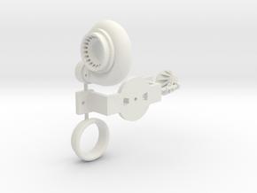 PM031-RC Pro Mod Single Turbocharger Set in White Natural Versatile Plastic