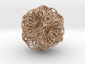 Fusion Zulu Transponding in 14k Rose Gold Plated Brass