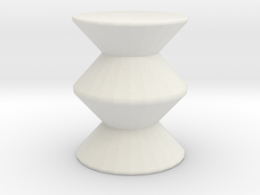Mod stool in White Natural Versatile Plastic