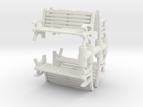 Bench (4 pieces) 1/100 in White Natural Versatile Plastic