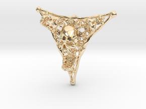 Triangle Bone Pendant in 14k Gold Plated Brass