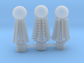 three toppers in Smooth Fine Detail Plastic