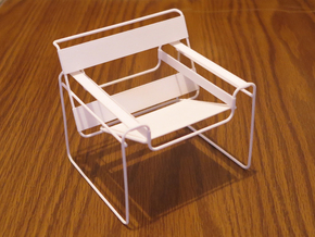 """Wassily Chair 3.7"""" tall in White Natural Versatile Plastic"""