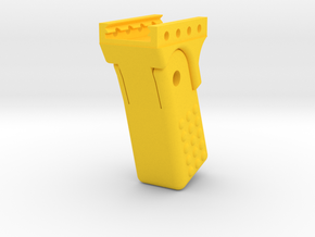 HMP Foregrip for Airsoft Inspired by Halo 2 M7 SMG in Yellow Processed Versatile Plastic
