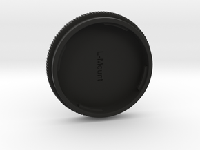 L-Mount Lense Cap in Black Natural Versatile Plastic