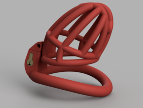 Cherry Keeper Cage - Long Wide in Red Processed Versatile Plastic