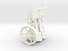 Two Cylinder Vertical Engine 1/22 in White Processed Versatile Plastic