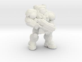 Starcraft Marine Bolter 1/60 miniature games rpg in White Natural Versatile Plastic