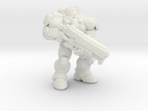 Starcraft Marine rifle down 1/60 miniature games in White Natural Versatile Plastic