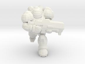Starcraft Marine Running 1/60 miniature games rpg in White Natural Versatile Plastic