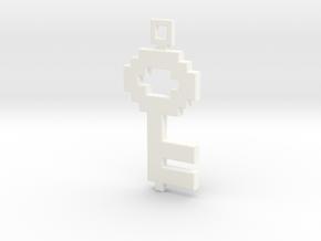 Pixel Art  -  Key  in White Processed Versatile Plastic