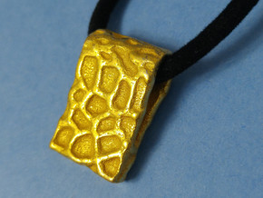 Primal Pendant in Polished Gold Steel