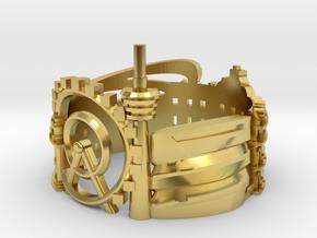 Stuttgart Skyline - Cityscape Ring in Polished Brass: 6 / 51.5