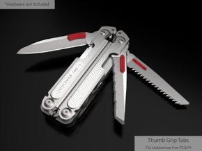 Thumb Tabs for Leatherman FREE P4 in Red Processed Versatile Plastic