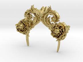 Rococo Headpeice in Natural Brass