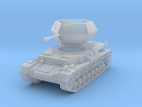 Flakpanzer IV Ostwind 1/120 in Smooth Fine Detail Plastic