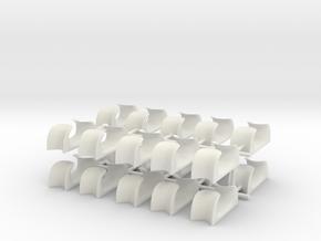 1/48 USN Chocks set x20 in White Natural Versatile Plastic