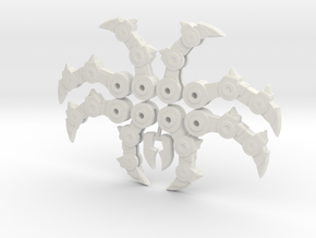 Dino Combiner Fingers With Thumb Claws in White Natural Versatile Plastic